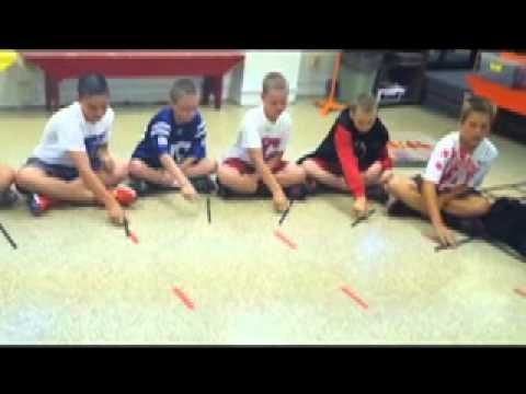Star-Spangled Banner Stick Circle ... like the ACTIVITY that we do with CUPS. ( never used sticks for passing but good IDEA )