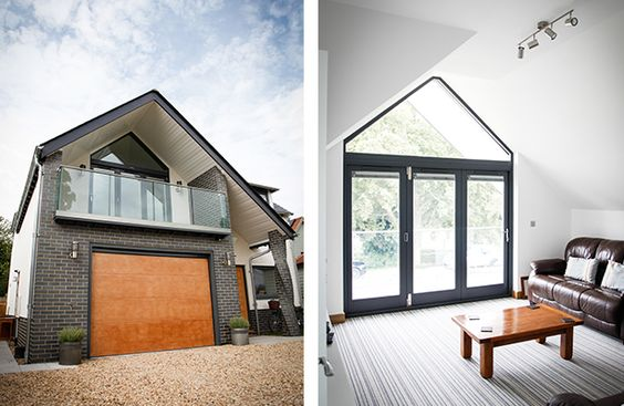garage added to the front of a bungalow uk - Google Search