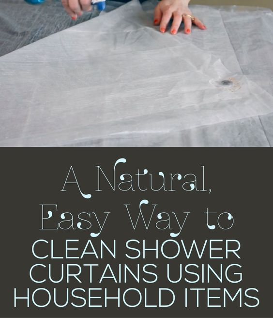 A Natural, Easy Way to Clean Shower Curtains Using Household Items ...