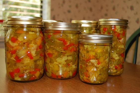 Southern Chow Chow.  Must accompany Beans & Cornbread.