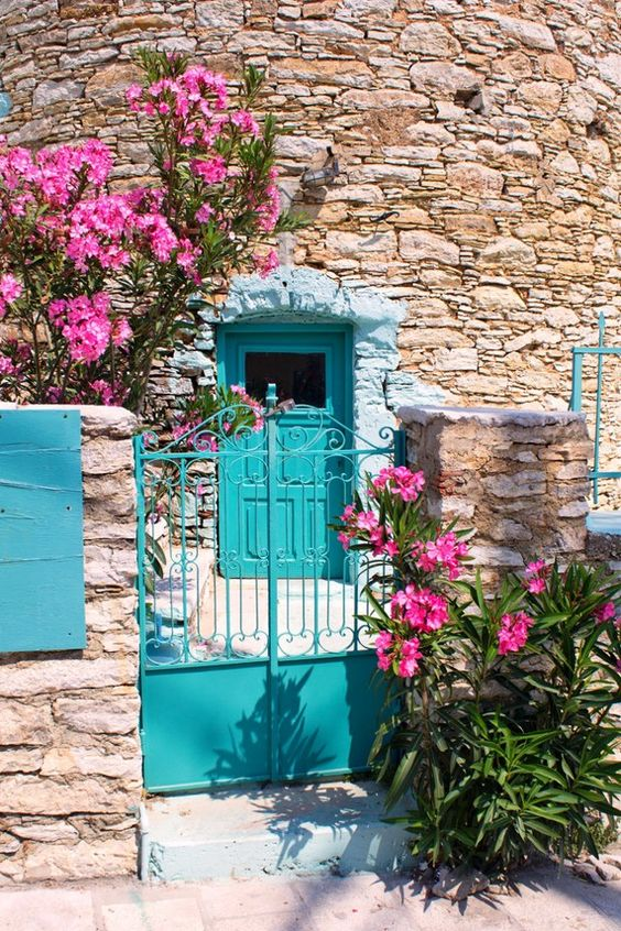 Turquoise Gate And Door ~ Symi, Greece: