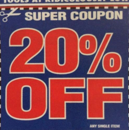 1 Coupon Harbor Freight Tools 20 Off Single Item Exp 12 31 2019 Or Later Harbor Freight Harbor Freight Tools Harbor Freight Coupon Harbor