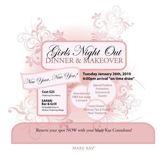 Mary Kay Flyer Templates Mary Kay Party Invitations, Mary Kay