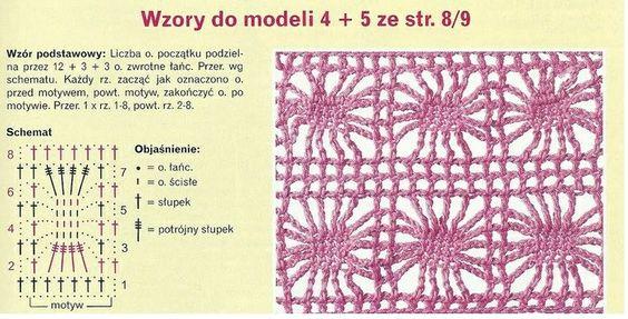 Patrones Crochet: Chal Bufanda Estrella Cuadrada