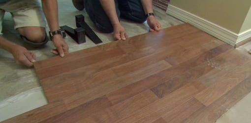 How To Install Laminate Flooring Over A Tile Floor Installing Laminate Flooring Laminate Flooring Flooring