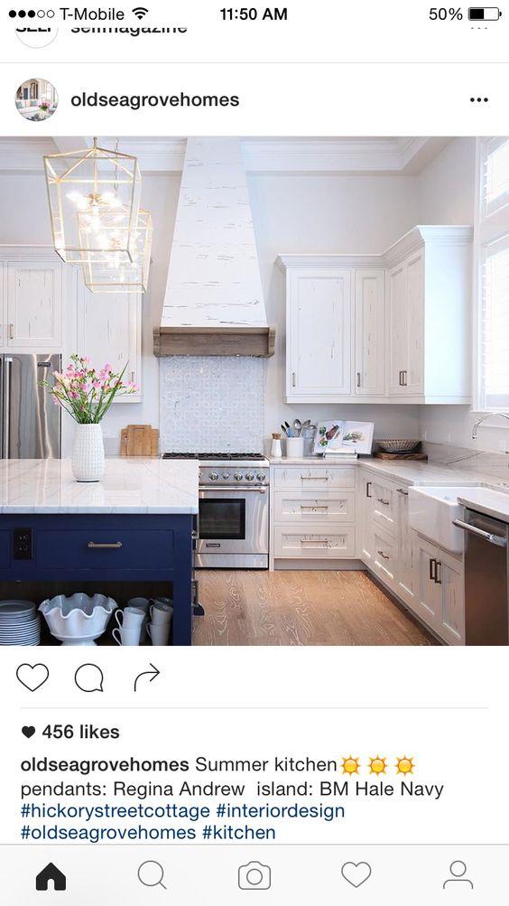 Kitchen idea - love the navy island