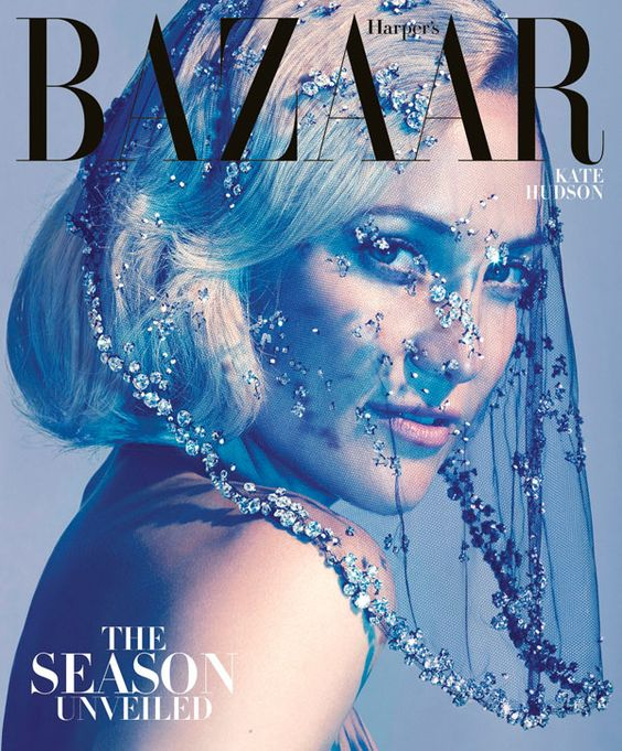 Harper's Bazaar US, October 2012 subscribers #cover | Kate Hudson Stuns in Armani Privé | Photography by Camilla Åkrans