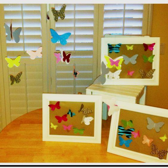 DIY kiddos - bedroom butterfly art