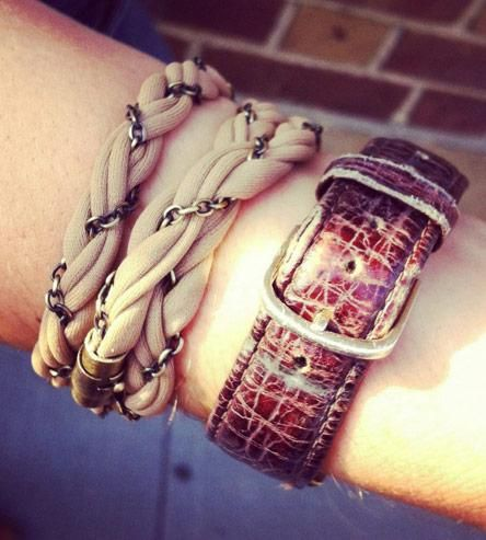 Chain Wrap Bracelet in Sun Tan (is also necklace!)