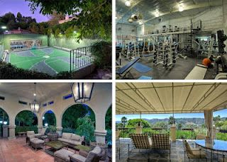 Mark Walhberg's home hits the market again, this time for $3M less. Features include: putting green, sport court & waterslide. #realestate #luxury