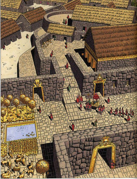 Visao Artistica Sobre Templo Inca