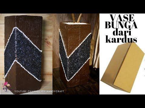 Membuat Vas Bunga Dari Kardus Ide Kreatif Dari Kardus Bekas How