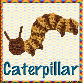 Flower and bug scrapbooking embellishments crochet pattern