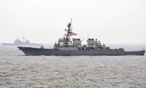 The Arleigh Burke class destroyer USS Fitzgerald.