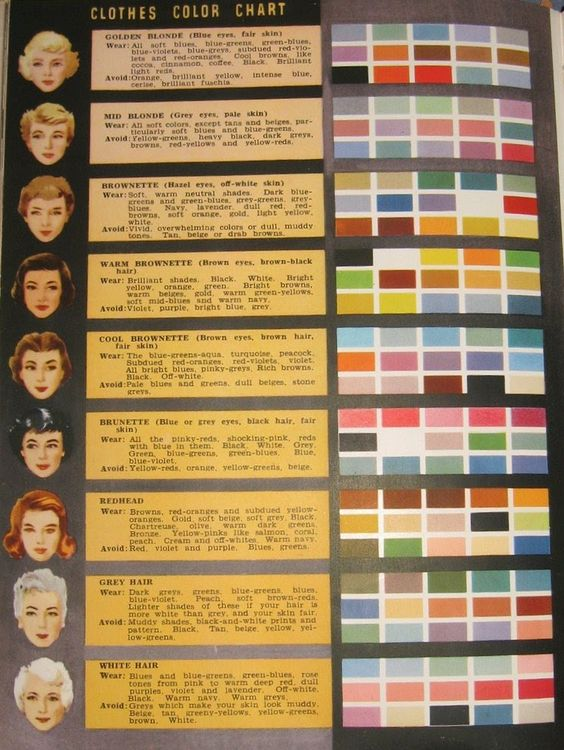 Colour Chart Charts And Style Clothes On Pinterest