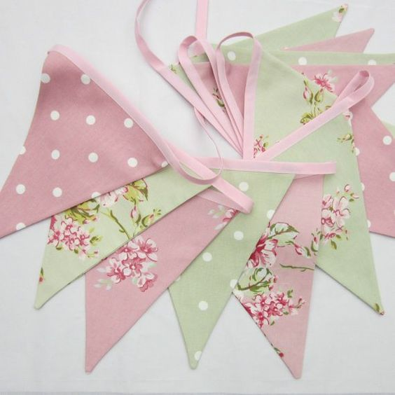 Bunting - I am all about the buntings! Especially in Lily's room or even baby showers, bridal showers, photo props, etc...:
