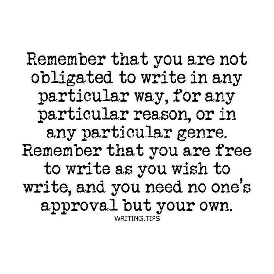 Be true to yourself. Otherwise you'll never feel fulfilled or satisfied with what you produce.