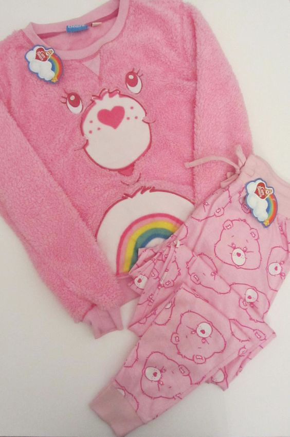 Primark Pink CARE BEARS CHEER BEAR Fluffy Jumper & Lounge Pants Pyjama Set PJ's in Clothes, Shoes & Accessories, Women's Clothing, Lingerie & Nightwear | eBay