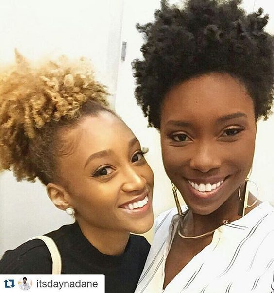 #Repost @itsdaynadane ・・・ Hey Nic!! ❤️ loved this selfie of me and the boo @modelesque_nic at the @hueaffair! She is everything! #kinkychicks #kinky_chicks1 #naturalhair