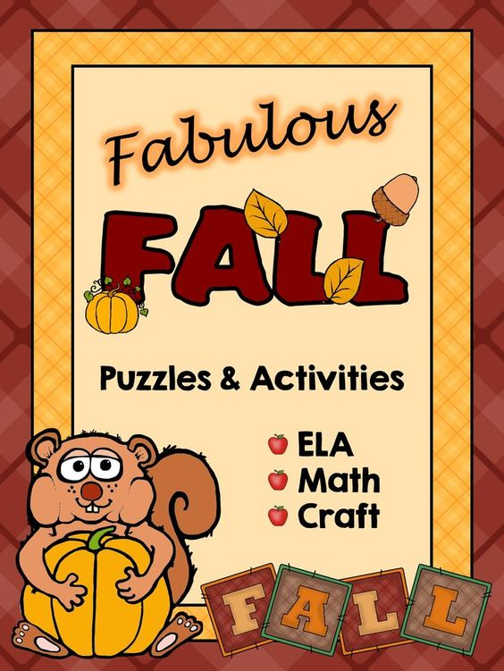 Fun activities for the Fall season, Review and consolidate an array of ELA and Math skills.
