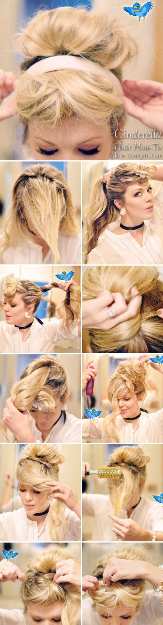 Cinderella's chic updo | Community Post: 7 Easy Hair Tutorials Even Disney Princesses Would Envy