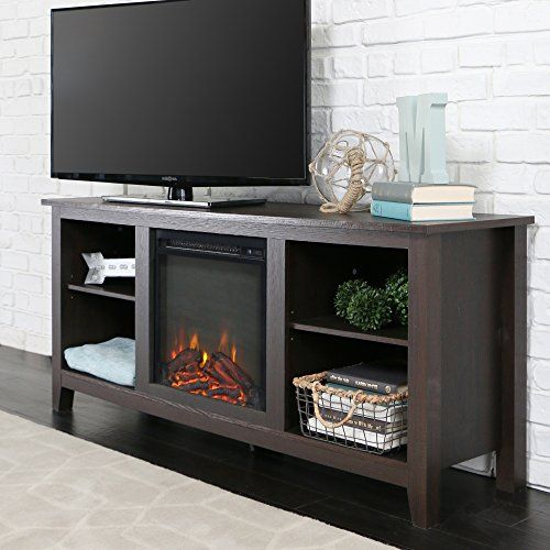 New 58 Inch Tv Stand With Fireplace In Espresso Finish Home Accent Furnishings Http
