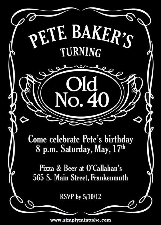 Diy Jack Daniels Inspired Birthday Invitation 4x6 Personalized To Your Specifications Jack Daniels Birthday Jack Daniels Party Party Invite Template