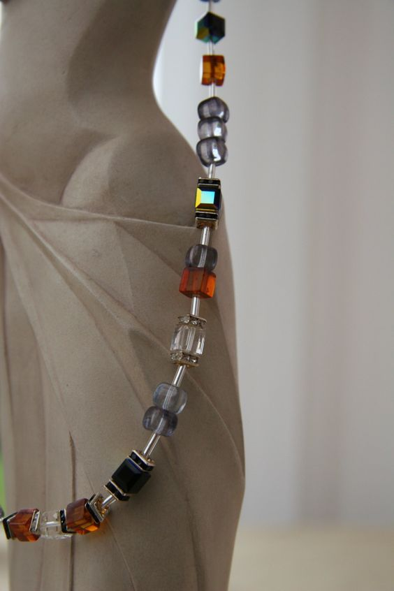 Amber and Swarovski Crystal Necklace by MojoByAli on Etsy