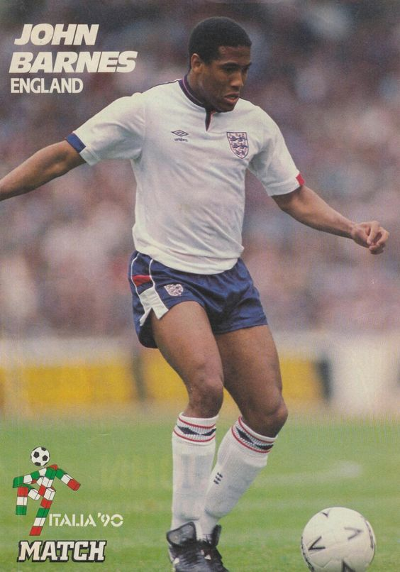 John Barnes of England in 1990.