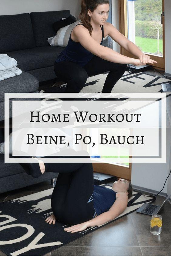 Home Workout - Beine, Po und Bauch für Zuhause | + Cheat Sheet