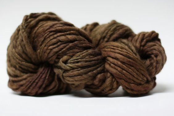 Thick and Thin Merino Yarn Slub Hand Dyed ttstm by 1AZColorworks, $12.50