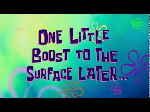 One Little Boost To The Surface Later Spongebob Time Card 167 Youtube Spongebob Time Cards Spongebob Boosting