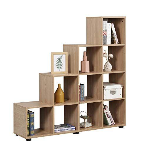 Soges Bookshelf 10 Cube Cabinet Storage Organizer Large Corner Bookshelf Wood Bookcase Storage Cube Closet Organizer With Images Cube Storage Bookcase Storage Cubes Closet