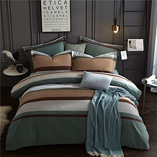 Llwannr Duvet Covers 100 Cotton Plaid Fashion Bedding Bed Linen Bed Sheet Duvet Cover Pillowcase 4pcs Beddi Linen Bed Sheets Queen Bedding Sets Bed Linen Sets