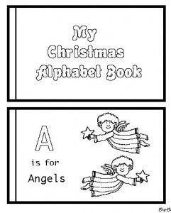 Christmas Alphabet Book: Christmas Mini Book, Preschool Christmas Book, Coloring Book, Abc Book, Christmas Break, Christmas Gift, Printable Christmas Book