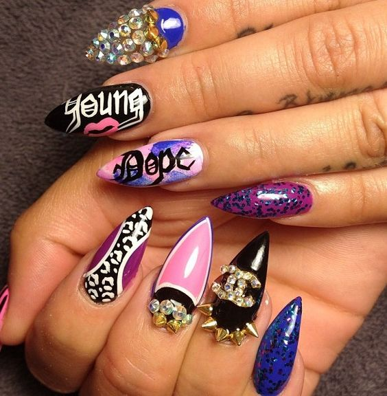 10 Purple Stiletto Nail Designs You Must Have | Stiletto Nails ...