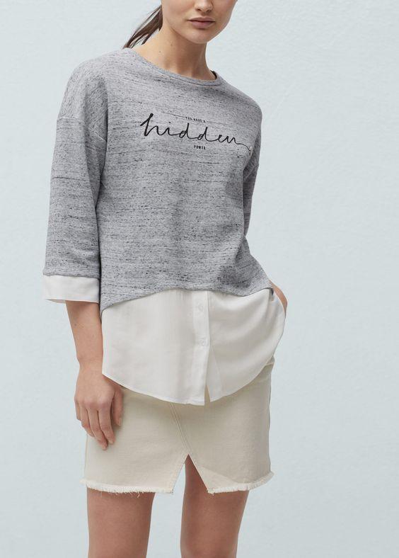 Sweatshirts de Mulher | MANGO Portugal