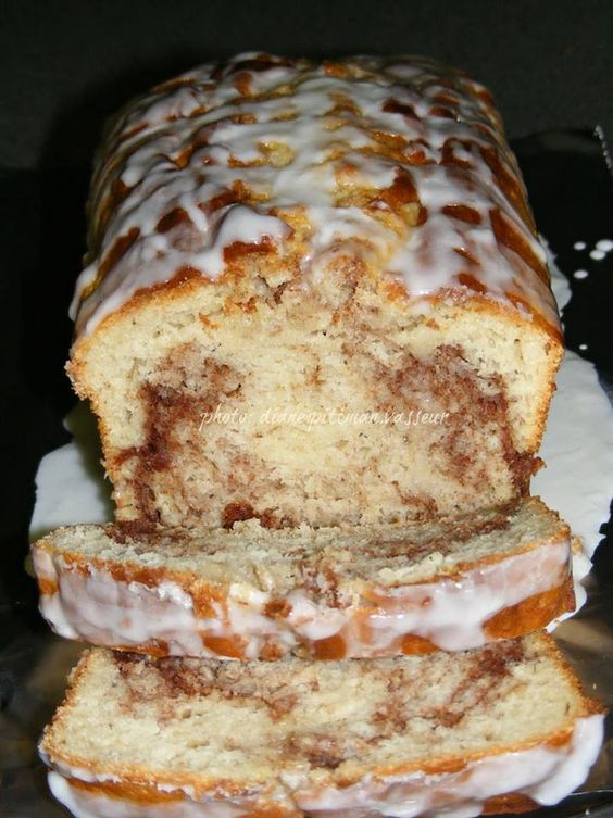 Easy Cinnamon Roll Bread   No yeast in this recipe, so prep time is quick. You don't even need a mixer! It makes its own unique swirl as it bakes.