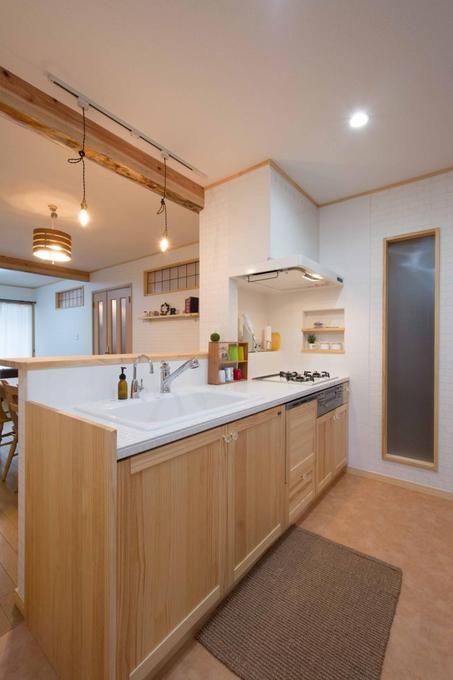 価格 Com 対面式に間取り変更したキッチン キッチンのリフォーム