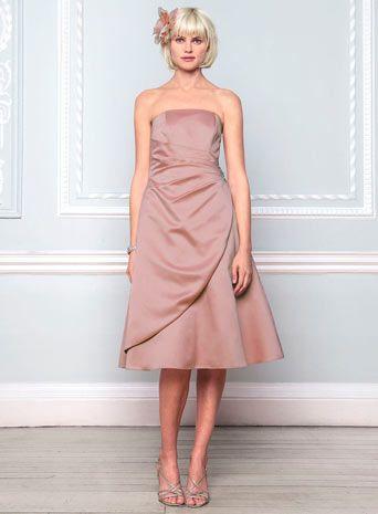 Eve Dusky Pink Satin Bridesmaid Dress