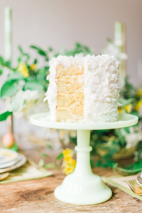 Coconut Cake | View entire slideshow: 15 Mouthwatering Wedding Desserts on http://www.stylemepretty.com/collection/341/ | Photography: Rustic White - rusticwhite.com: Cakes Cookieswedding, Spring Wedding Cakes, White Rusticwhite, Photography Rustic, Coconut Desserts, Wedding Desserts, Coconut Cakes, Cake Stylemepretty