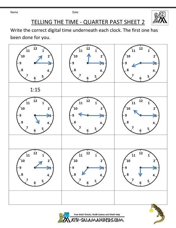 2ndgrademathworksheetstellingthetimequarterpast2gif 790 – Time Maths Worksheets
