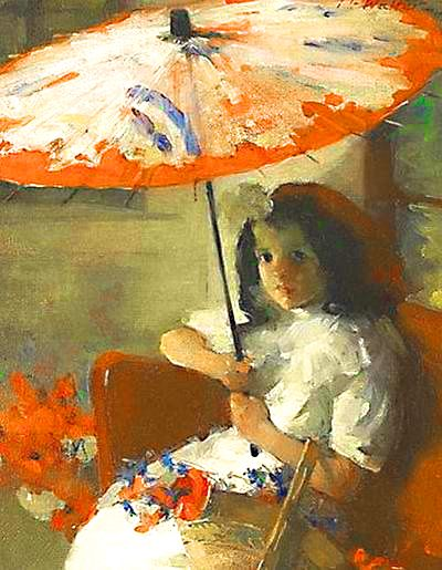 ☂ Paper Lanterns and Parasols ☂ Japonisme Art and Illustration - Martha Walther | Girl with Parasol