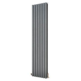Ximax Fortuna Vertical Duplex Designer Radiator Anthracite 1800 x 472mm | Designer Radiators | Screwfix.com