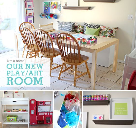 Play rooms dining rooms and art rooms on pinterest - Dining room play ...