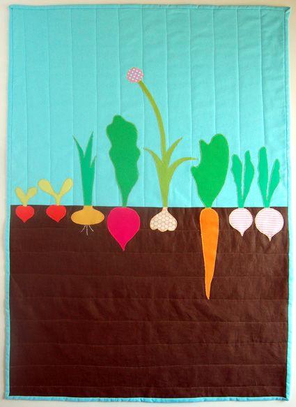 mini veggie garden quilt - this is too cute!!: