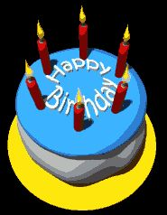 Animated gifs happy birthday cake balloons clowns isa