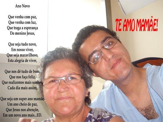 Foto com minha mãe em uma época que eu estava internado no Incor.