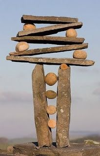 After inviting students to experiment with center of gravity to create an unlikely stack of rocks, I'll have them discuss this article, which describes the environmental pros and cons to rock stacking in natural habitats.