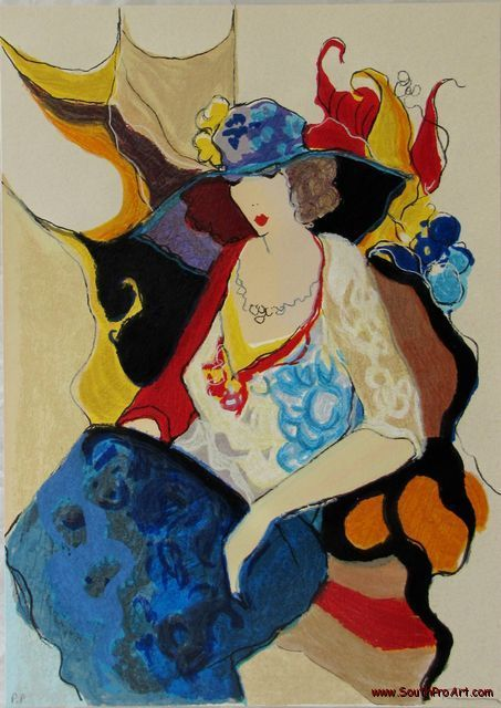 artist tarkay itzchak | Itzchak Tarkay Silkscreen Woman HS Printer's Proof COA | eBay